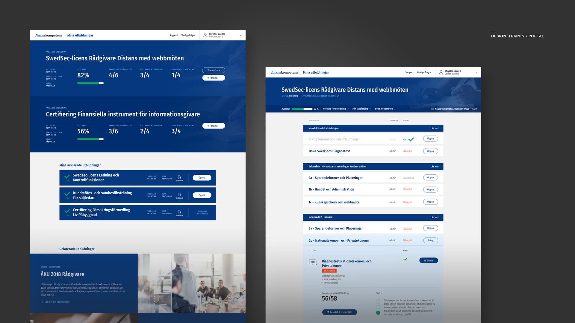 design-training-portal-finanskompetens